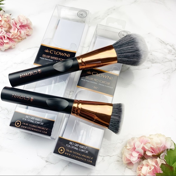 Sephora Other - Crown Deluxe Tapered Powder & Pro Contour Brush